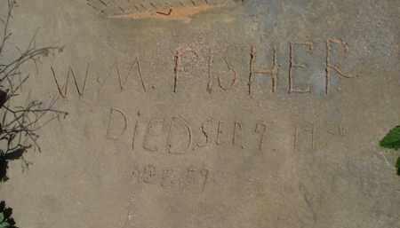 PISHER, W. M. - Pinal County, Arizona   W. M. PISHER - Arizona Gravestone Photos