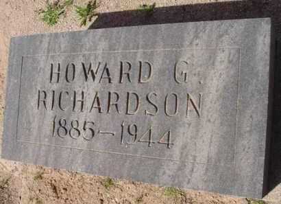 RICHARDSON, HOWARD G. - Pinal County, Arizona | HOWARD G. RICHARDSON - Arizona Gravestone Photos