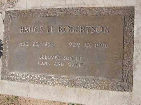 ROBERTSON, BRUCE H. - Pinal County, Arizona   BRUCE H. ROBERTSON - Arizona Gravestone Photos
