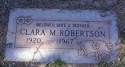 ROBERTSON, CLARA M. - Pinal County, Arizona   CLARA M. ROBERTSON - Arizona Gravestone Photos