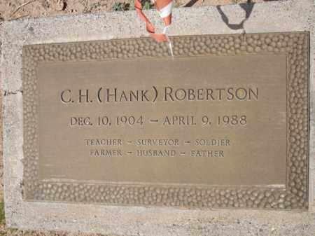 ROBERTSON, C. H. (HANK) - Pinal County, Arizona | C. H. (HANK) ROBERTSON - Arizona Gravestone Photos