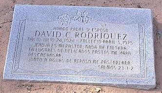RODRIQUEZ, DAVID C. - Pinal County, Arizona | DAVID C. RODRIQUEZ - Arizona Gravestone Photos