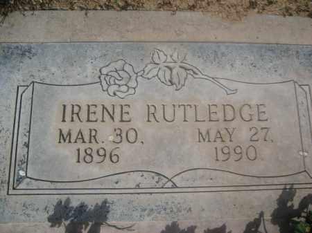 RUTLEDGE, IRENE - Pinal County, Arizona   IRENE RUTLEDGE - Arizona Gravestone Photos