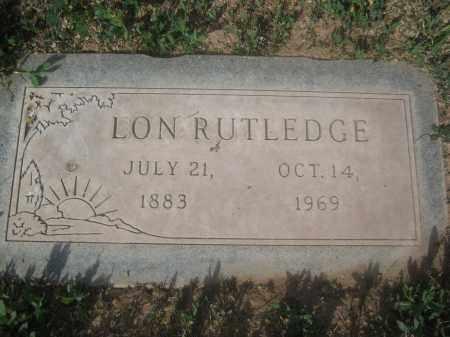 RUTLEDGE, LON - Pinal County, Arizona | LON RUTLEDGE - Arizona Gravestone Photos