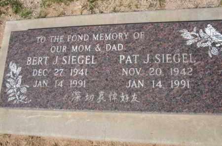 SIEGEL, BERT J. - Pinal County, Arizona   BERT J. SIEGEL - Arizona Gravestone Photos