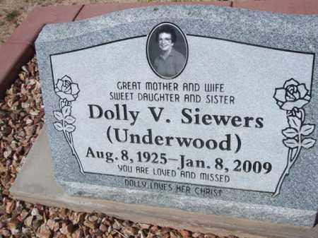 UNDERWOOD SIEWERS, DOLLY V. - Pinal County, Arizona | DOLLY V. UNDERWOOD SIEWERS - Arizona Gravestone Photos