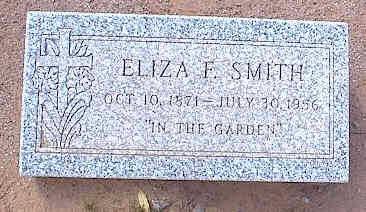 SMITH, ELIZA F. - Pinal County, Arizona | ELIZA F. SMITH - Arizona Gravestone Photos