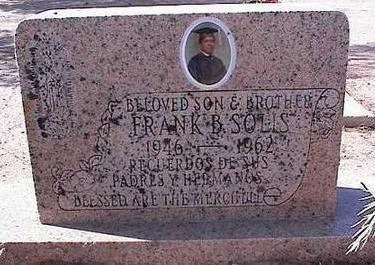 SOLIS, FRANK B. - Pinal County, Arizona | FRANK B. SOLIS - Arizona Gravestone Photos