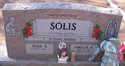 SOLIS, AMELIA B. - Pinal County, Arizona | AMELIA B. SOLIS - Arizona Gravestone Photos