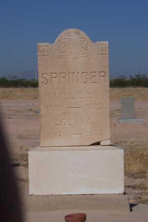 SPRINGER, LOLA A. - Pinal County, Arizona | LOLA A. SPRINGER - Arizona Gravestone Photos