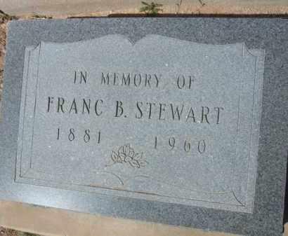 STEWART, FRANC B. - Pinal County, Arizona | FRANC B. STEWART - Arizona Gravestone Photos