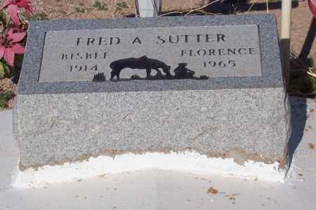 SUTTER, FRED A - Pinal County, Arizona | FRED A SUTTER - Arizona Gravestone Photos