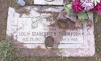 THOMPSON, LOLA - Pinal County, Arizona | LOLA THOMPSON - Arizona Gravestone Photos