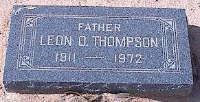 THOMPSON, LEON O. - Pinal County, Arizona | LEON O. THOMPSON - Arizona Gravestone Photos