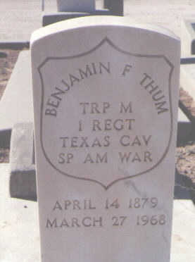 THUM, BENJAMIN F. - Pinal County, Arizona   BENJAMIN F. THUM - Arizona Gravestone Photos