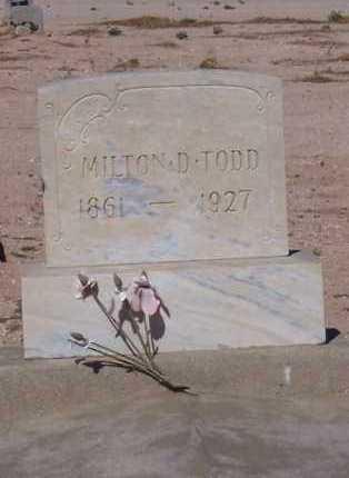 TODD, MILTON D. - Pinal County, Arizona   MILTON D. TODD - Arizona Gravestone Photos