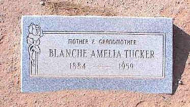 TUCKER, BLANCHE AMELIA - Pinal County, Arizona   BLANCHE AMELIA TUCKER - Arizona Gravestone Photos