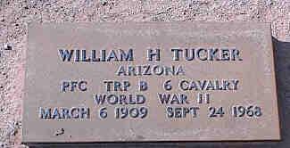 TUCKER, WILLIAM H. - Pinal County, Arizona | WILLIAM H. TUCKER - Arizona Gravestone Photos