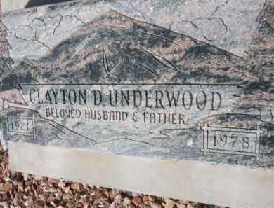 UNDERWOOD, CLAYTON - Pinal County, Arizona | CLAYTON UNDERWOOD - Arizona Gravestone Photos