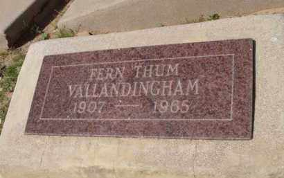 VALLANDINGHAM, FERN - Pinal County, Arizona | FERN VALLANDINGHAM - Arizona Gravestone Photos