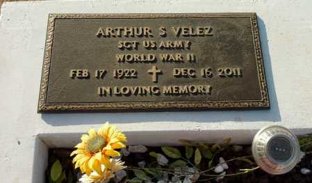 VELEZ, ARTHUR S. - Pinal County, Arizona | ARTHUR S. VELEZ - Arizona Gravestone Photos