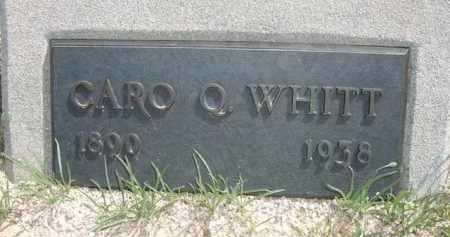 WHITT, CARO Q. - Pinal County, Arizona   CARO Q. WHITT - Arizona Gravestone Photos