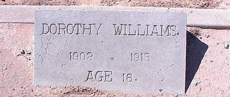 WILLIAMS, DOROTHY - Pinal County, Arizona | DOROTHY WILLIAMS - Arizona Gravestone Photos