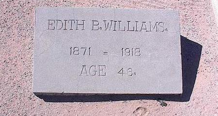 WILLIAMS, EDITH B. - Pinal County, Arizona   EDITH B. WILLIAMS - Arizona Gravestone Photos