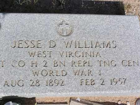 WILLIAMS, JESSE D - Pinal County, Arizona | JESSE D WILLIAMS - Arizona Gravestone Photos
