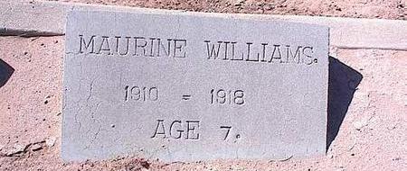 WILLIAMS, MAURINE - Pinal County, Arizona   MAURINE WILLIAMS - Arizona Gravestone Photos