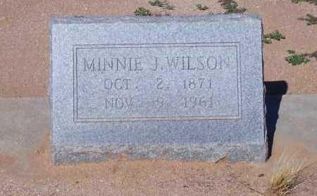 WILSON, MINNIE J. - Pinal County, Arizona | MINNIE J. WILSON - Arizona Gravestone Photos