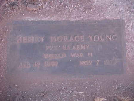 YOUNG, HENRY HORACE - Pinal County, Arizona | HENRY HORACE YOUNG - Arizona Gravestone Photos