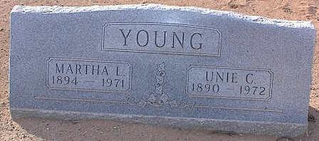 YOUNG, UNIE C. - Pinal County, Arizona | UNIE C. YOUNG - Arizona Gravestone Photos