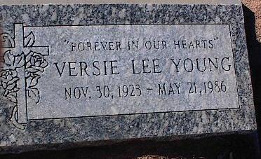 YOUNG, VERSIE - Pinal County, Arizona | VERSIE YOUNG - Arizona Gravestone Photos