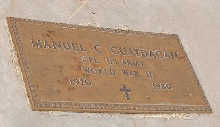 GUAYDAGAN, MANUEL C. - Santa Cruz County, Arizona   MANUEL C. GUAYDAGAN - Arizona Gravestone Photos