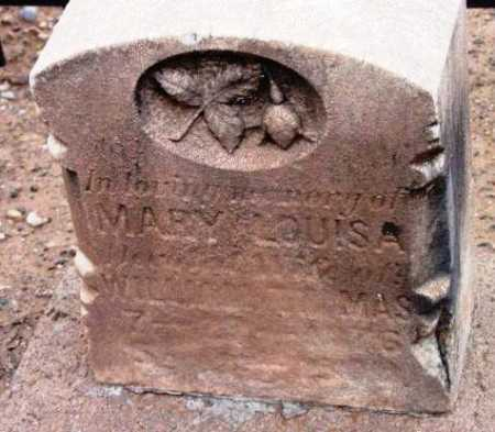 UNKNOWN, MARY LOUISA - Yavapai County, Arizona | MARY LOUISA UNKNOWN - Arizona Gravestone Photos