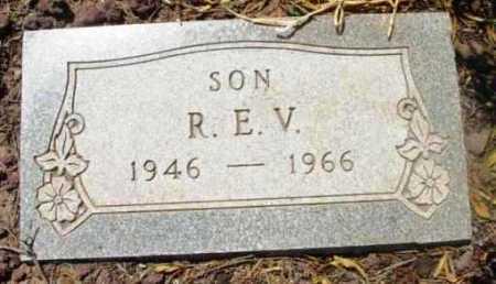 UNKNOWN, R. E. V.  (SON) - Yavapai County, Arizona | R. E. V.  (SON) UNKNOWN - Arizona Gravestone Photos