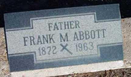 ABBOTT, FRANK M. - Yavapai County, Arizona | FRANK M. ABBOTT - Arizona Gravestone Photos