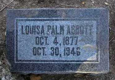 PALM ABBOTT, LOUISA - Yavapai County, Arizona | LOUISA PALM ABBOTT - Arizona Gravestone Photos