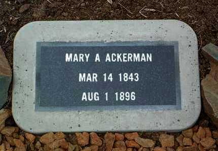 ACKERMAN, MARY A. - Yavapai County, Arizona | MARY A. ACKERMAN - Arizona Gravestone Photos