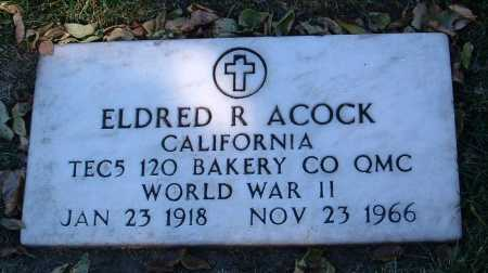 ACOCK, ELDRED R. - Yavapai County, Arizona | ELDRED R. ACOCK - Arizona Gravestone Photos