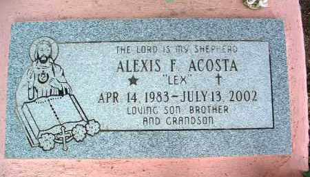 ACOSTA, ALEXIS FRANCISCO - Yavapai County, Arizona   ALEXIS FRANCISCO ACOSTA - Arizona Gravestone Photos