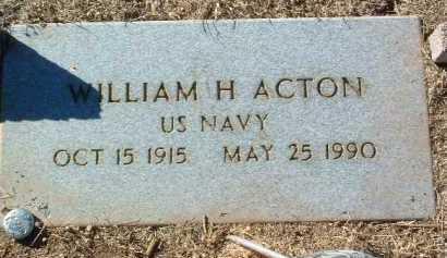 ACTON, WILLIAM H. - Yavapai County, Arizona   WILLIAM H. ACTON - Arizona Gravestone Photos