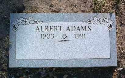 ADAMS, ALBERT - Yavapai County, Arizona | ALBERT ADAMS - Arizona Gravestone Photos