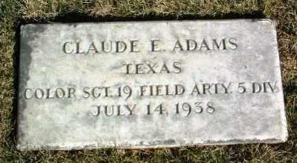 ADAMS, CLAUDE E. - Yavapai County, Arizona | CLAUDE E. ADAMS - Arizona Gravestone Photos
