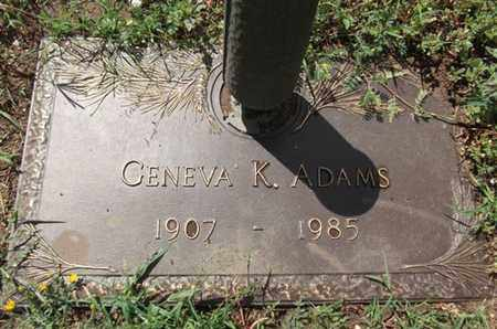 ADAMS, GENEVA KATHERINE - Yavapai County, Arizona | GENEVA KATHERINE ADAMS - Arizona Gravestone Photos