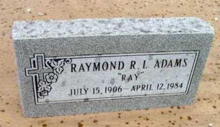 ADAMS, RAYMOND LEWIS - Yavapai County, Arizona | RAYMOND LEWIS ADAMS - Arizona Gravestone Photos