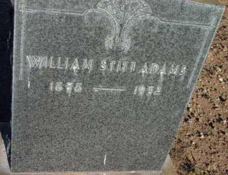 ADAMS, WILLIAM STITT - Yavapai County, Arizona | WILLIAM STITT ADAMS - Arizona Gravestone Photos