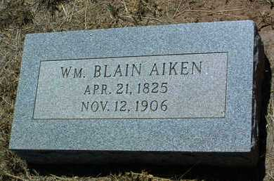 AIKEN, WILLIAM BLAIN - Yavapai County, Arizona | WILLIAM BLAIN AIKEN - Arizona Gravestone Photos
