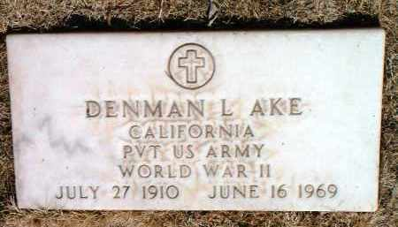 AKE, DENMAN LOUIS - Yavapai County, Arizona | DENMAN LOUIS AKE - Arizona Gravestone Photos
